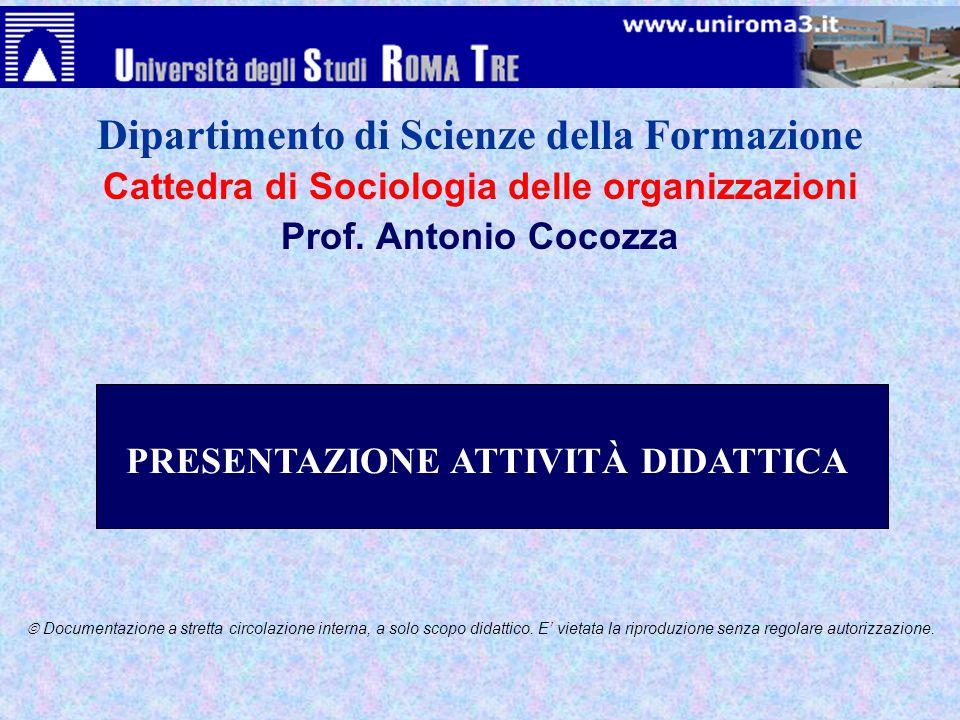 Dipartimento di Scienze della Formazione
