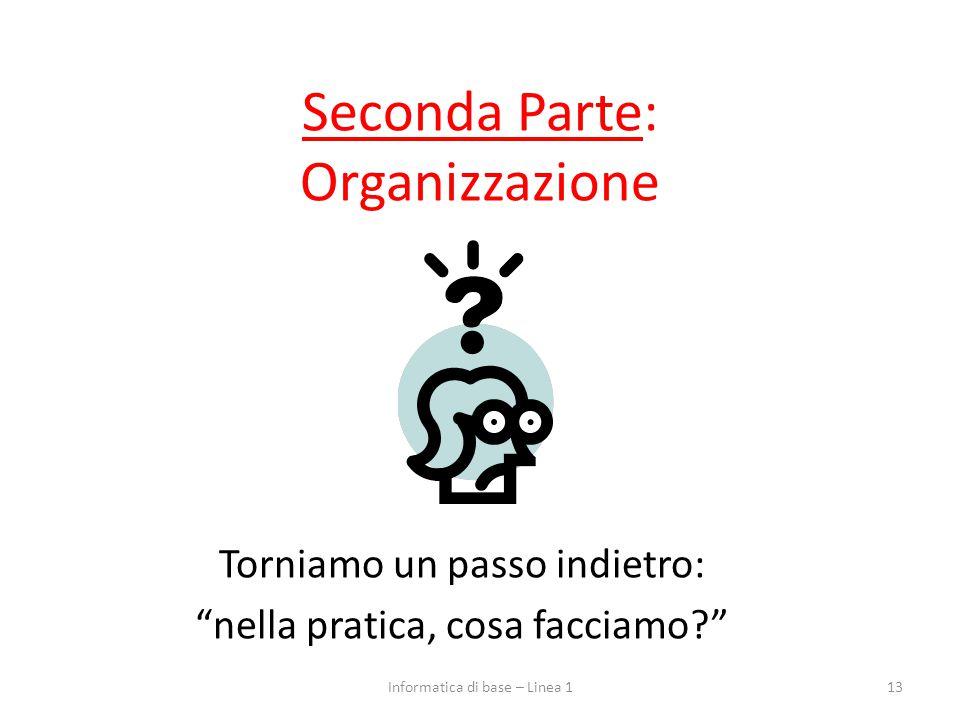 Seconda Parte: Organizzazione