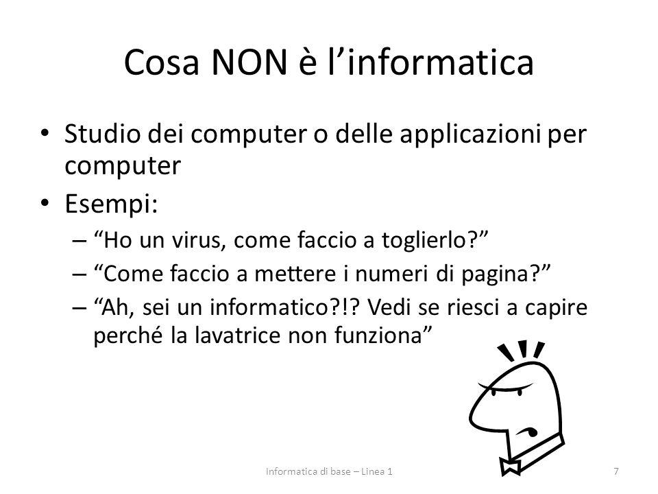 Cosa NON è l'informatica