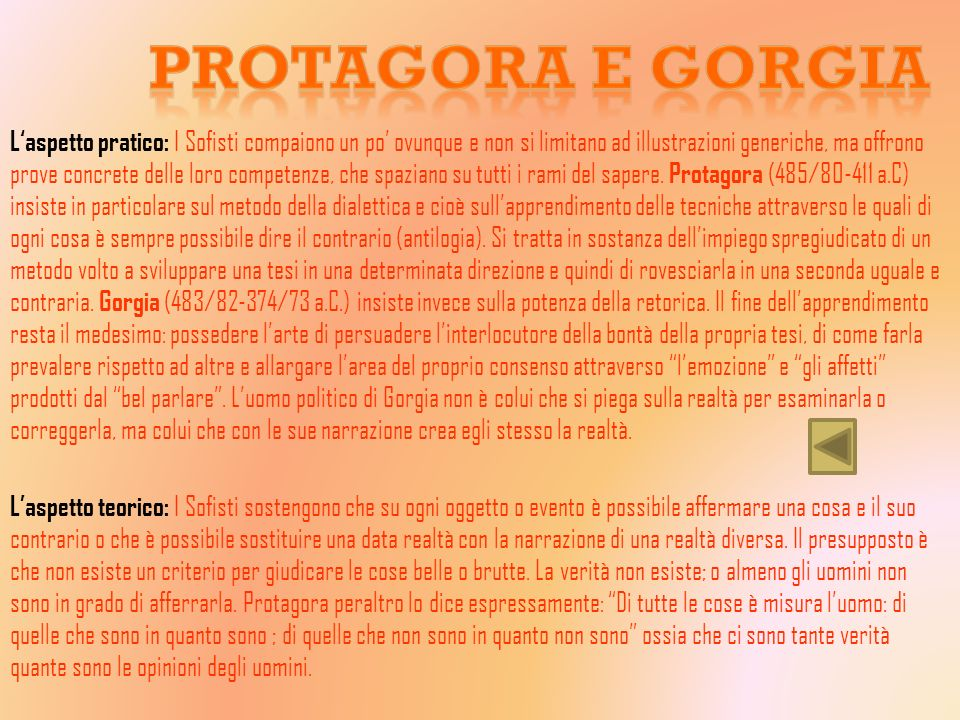 Protagora e Gorgia