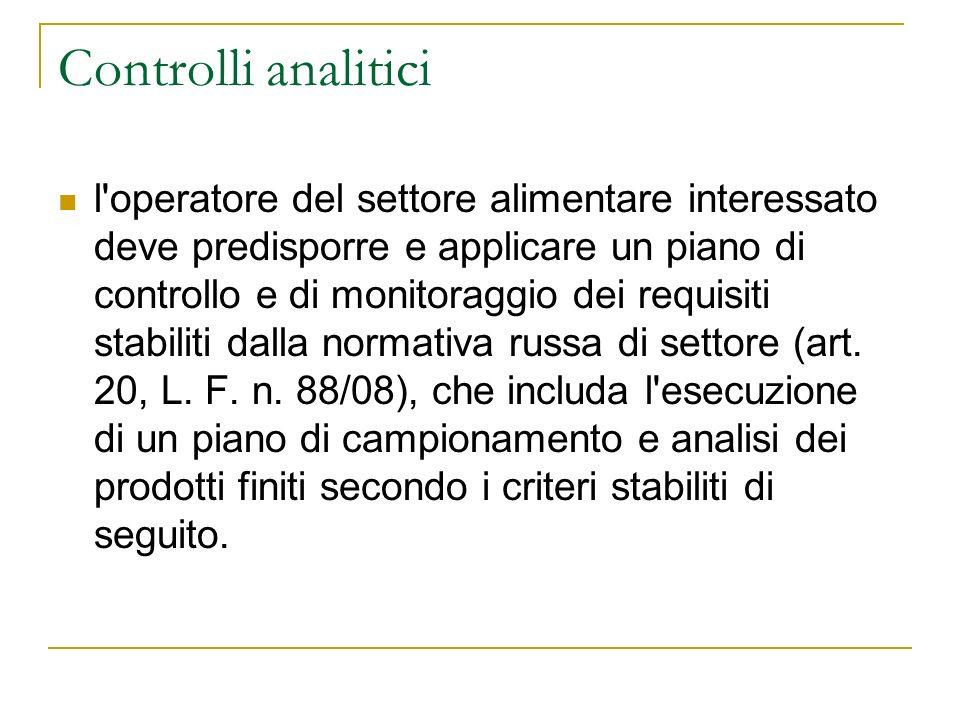 Controlli analitici