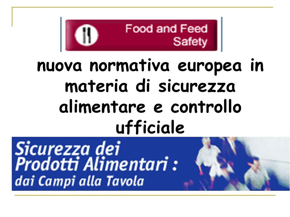 nuova normativa europea in materia di sicurezza alimentare e controllo ufficiale