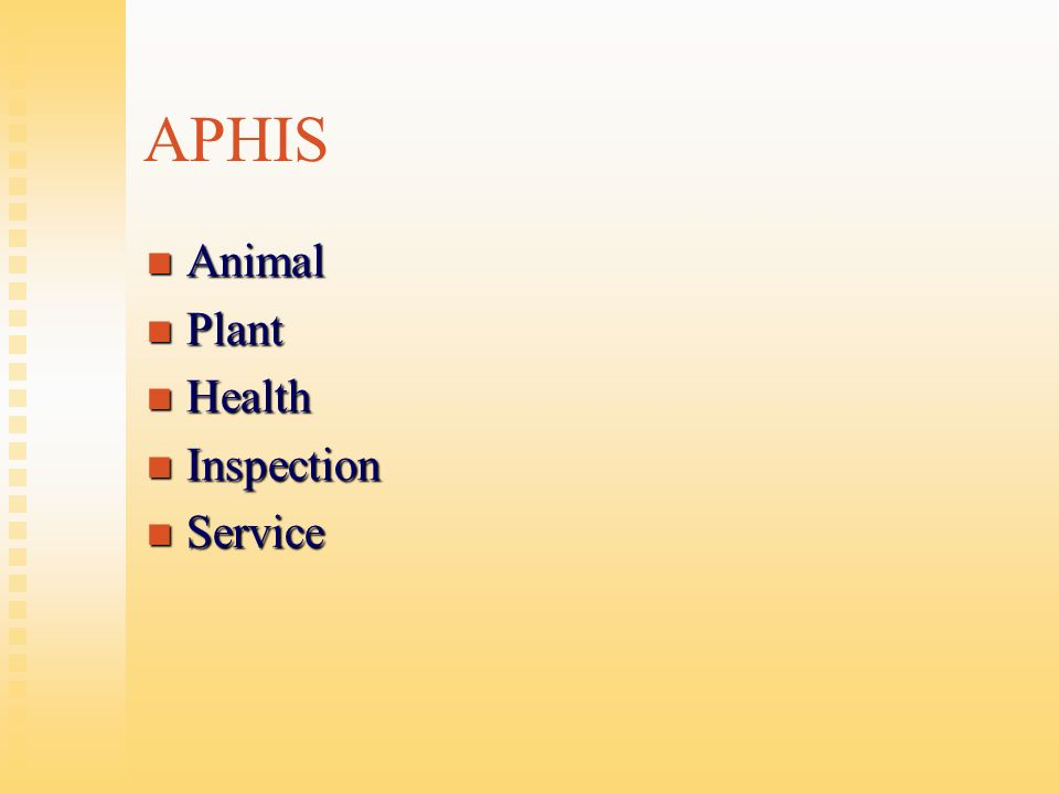 APHIS Animal Plant Health Inspection Service