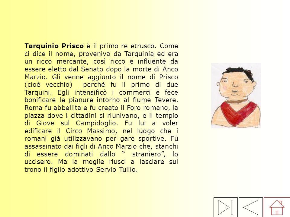 Tarquinio Prisco è il primo re etrusco