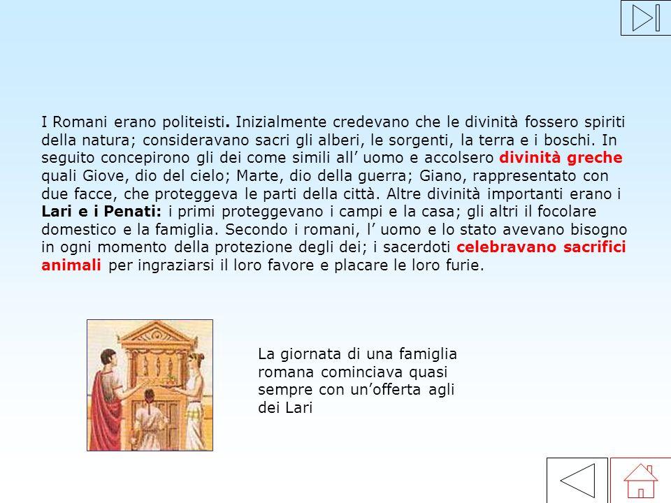 I Romani erano politeisti
