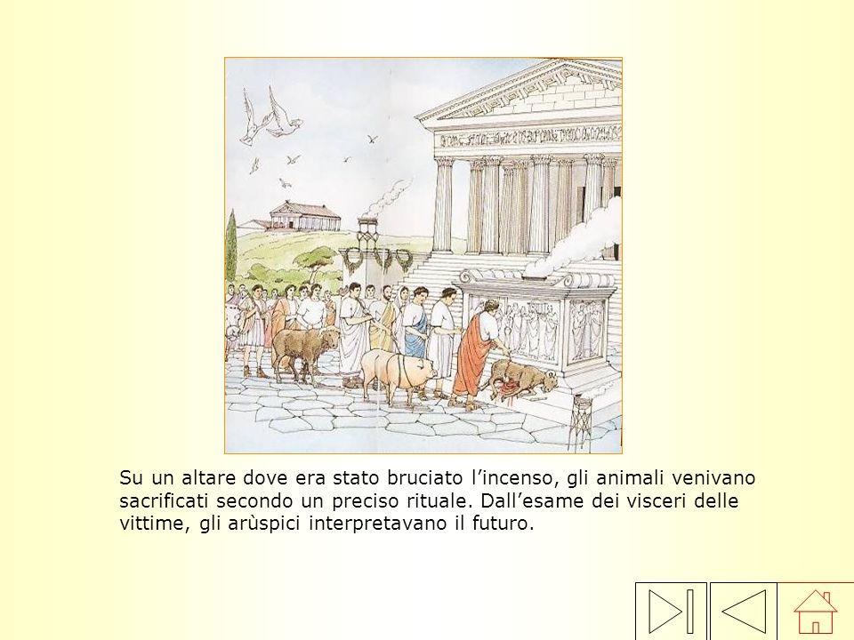 Su un altare dove era stato bruciato l'incenso, gli animali venivano sacrificati secondo un preciso rituale.