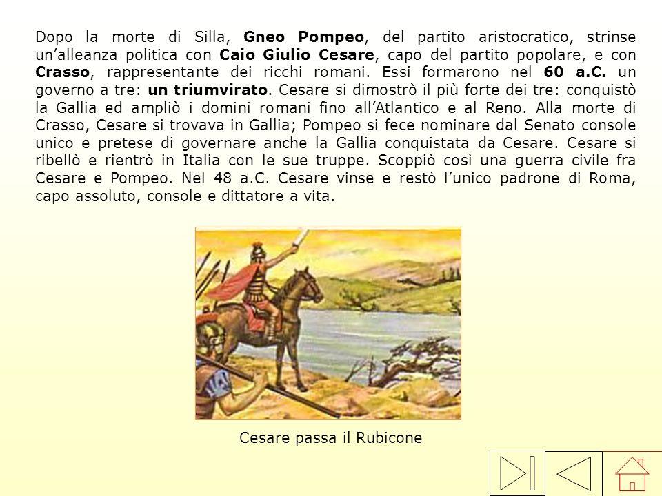 Cesare passa il Rubicone