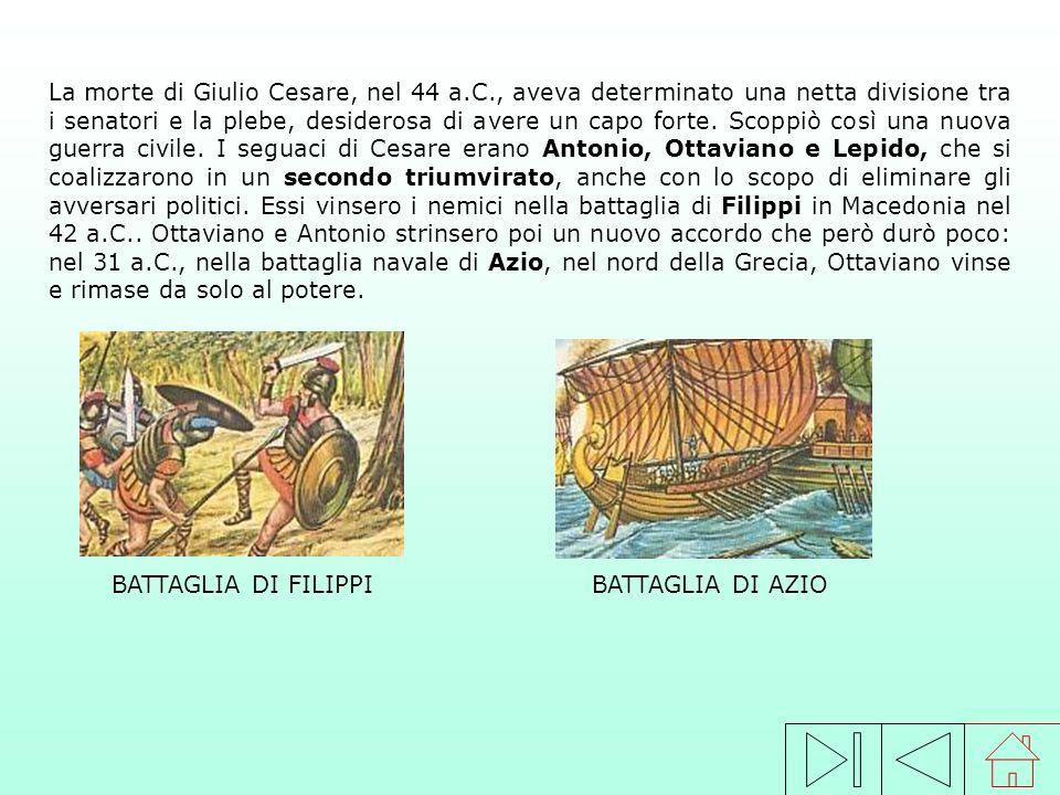 La morte di Giulio Cesare, nel 44 a. C