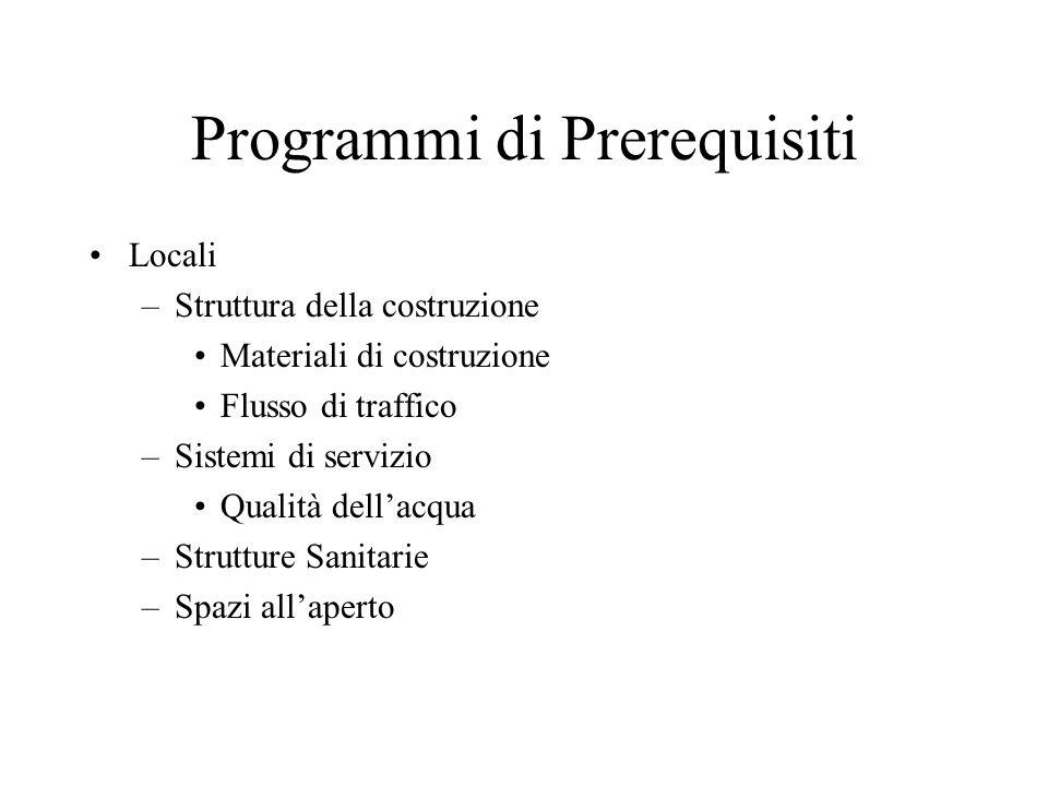 Programmi di Prerequisiti