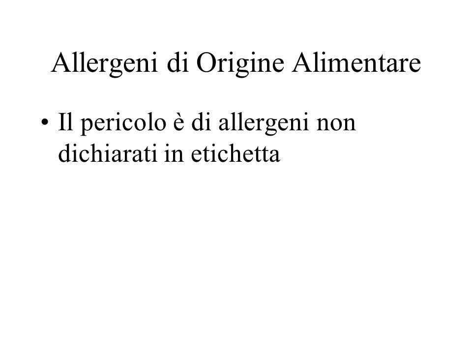 Allergeni di Origine Alimentare