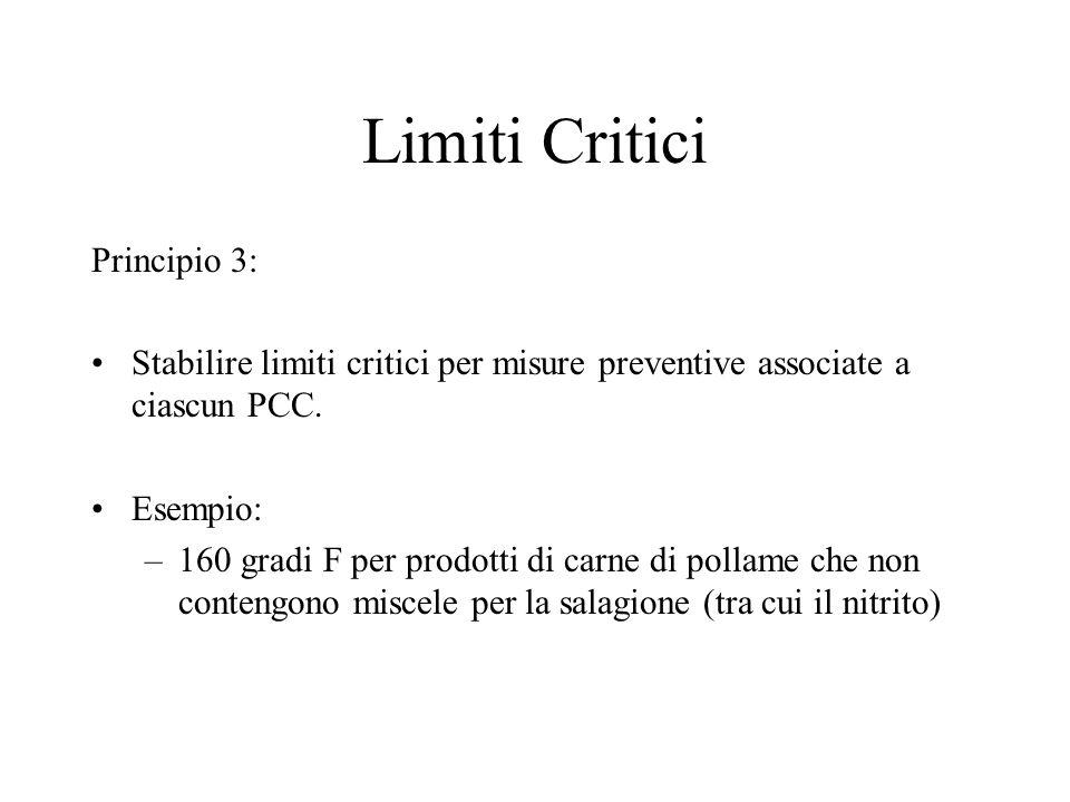 Limiti Critici Principio 3: