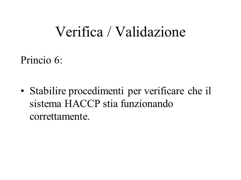 Verifica / Validazione