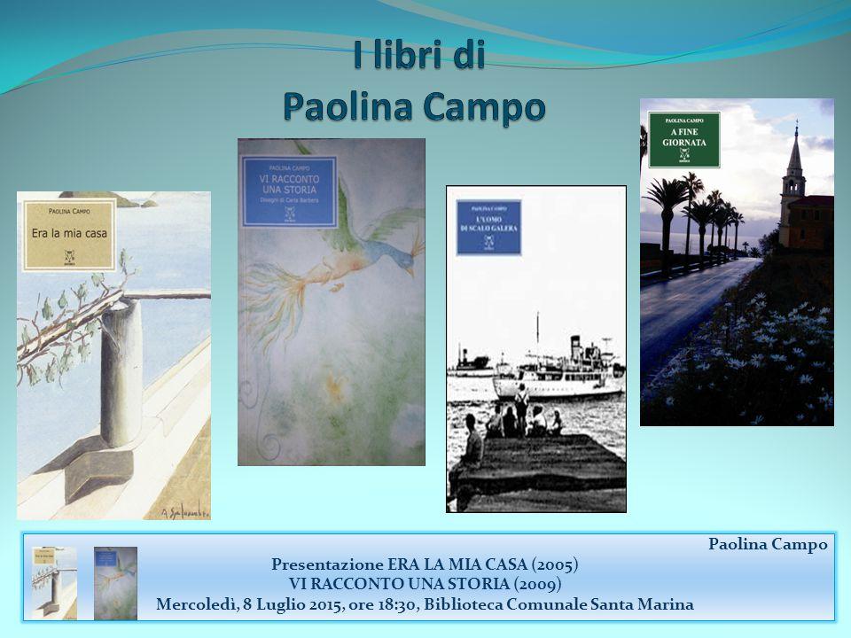 I libri di Paolina Campo