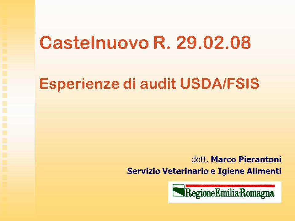 Castelnuovo R. 29.02.08 Esperienze di audit USDA/FSIS