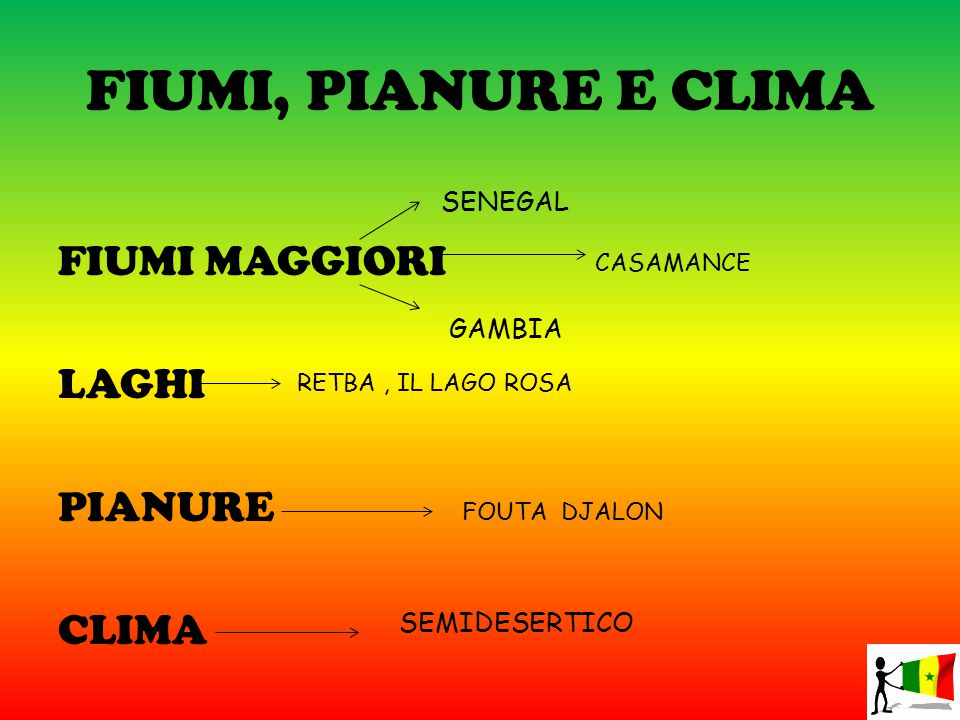 FIUMI, PIANURE E CLIMA FIUMI MAGGIORI LAGHI PIANURE CLIMA SENEGAL