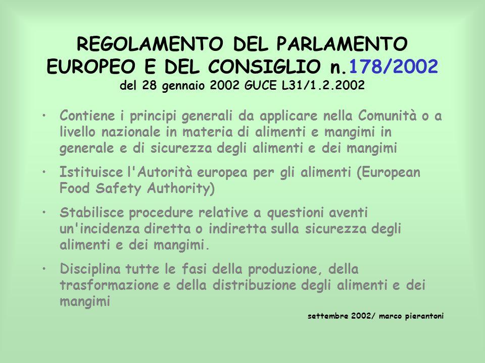 REGOLAMENTO DEL PARLAMENTO EUROPEO E DEL CONSIGLIO n