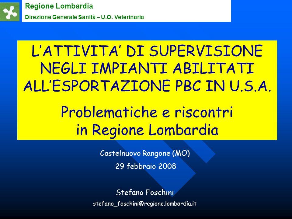 Problematiche e riscontri in Regione Lombardia
