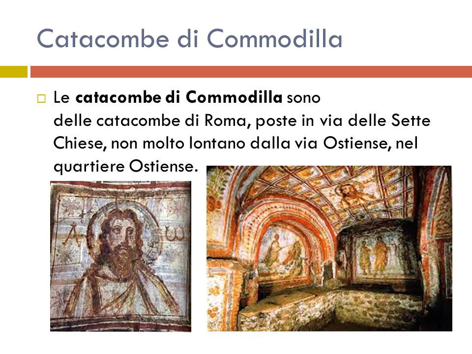 Catacombe di Commodilla