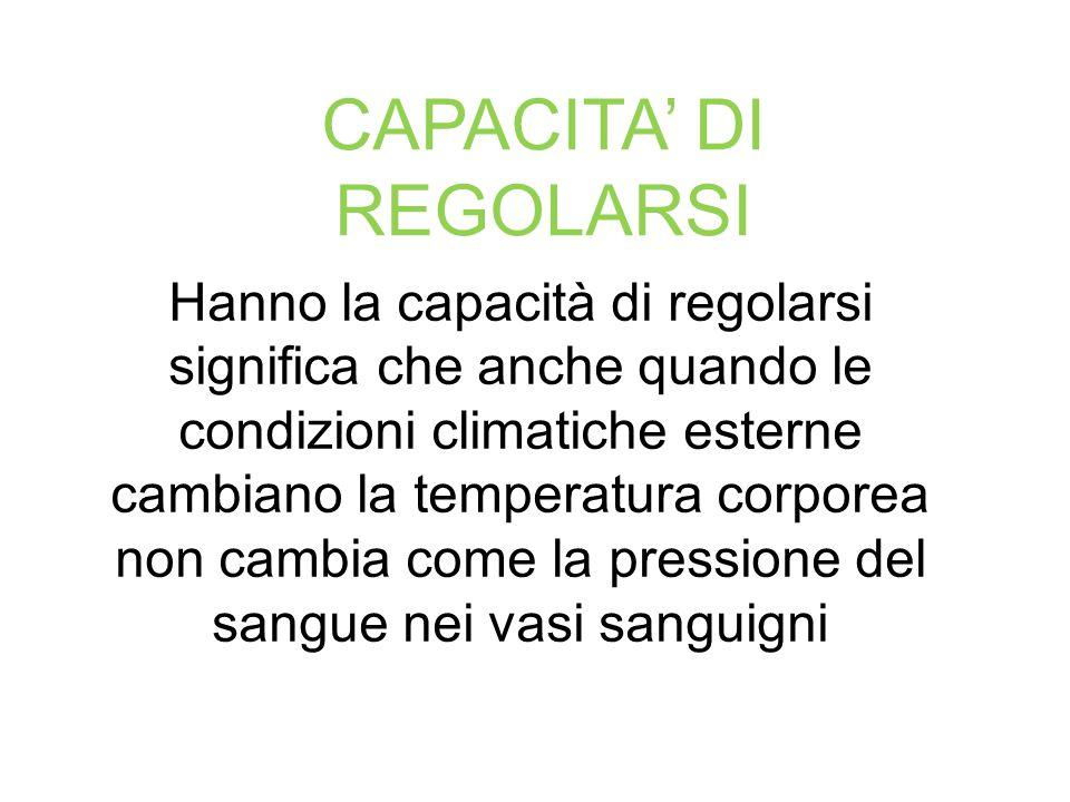 CAPACITA' DI REGOLARSI