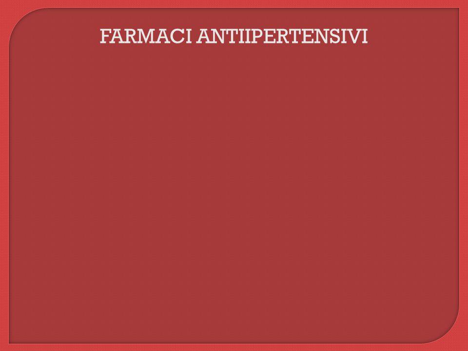 FARMACI ANTIIPERTENSIVI