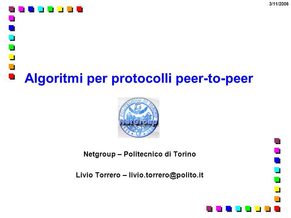Algoritmi per protocolli peer-to-peer