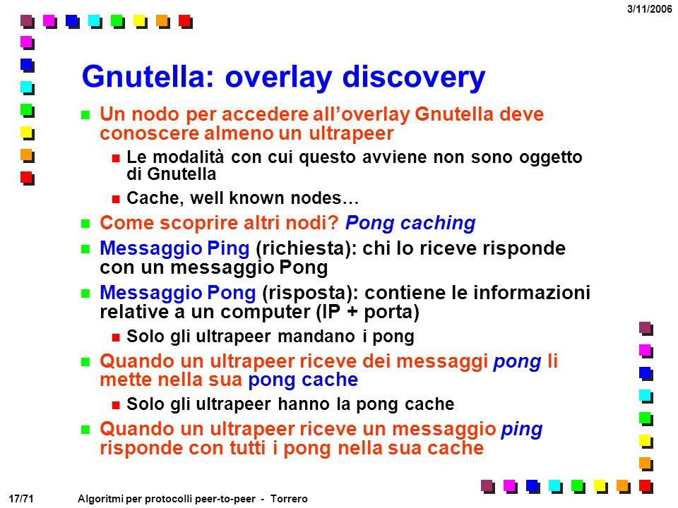 Gnutella: overlay discovery