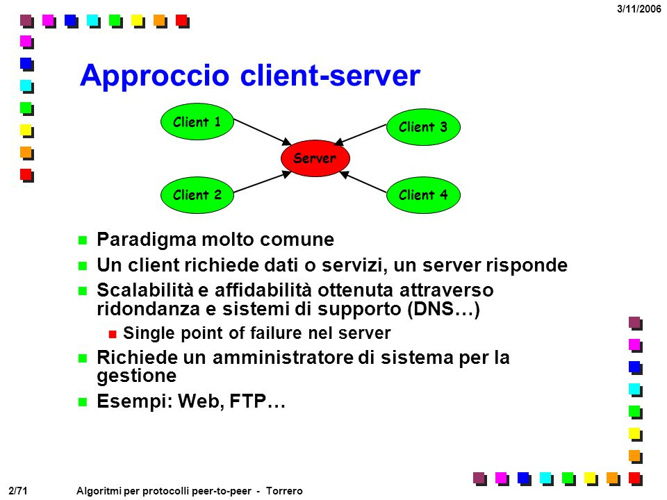 Approccio client-server