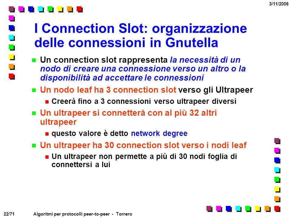 I Connection Slot: organizzazione delle connessioni in Gnutella