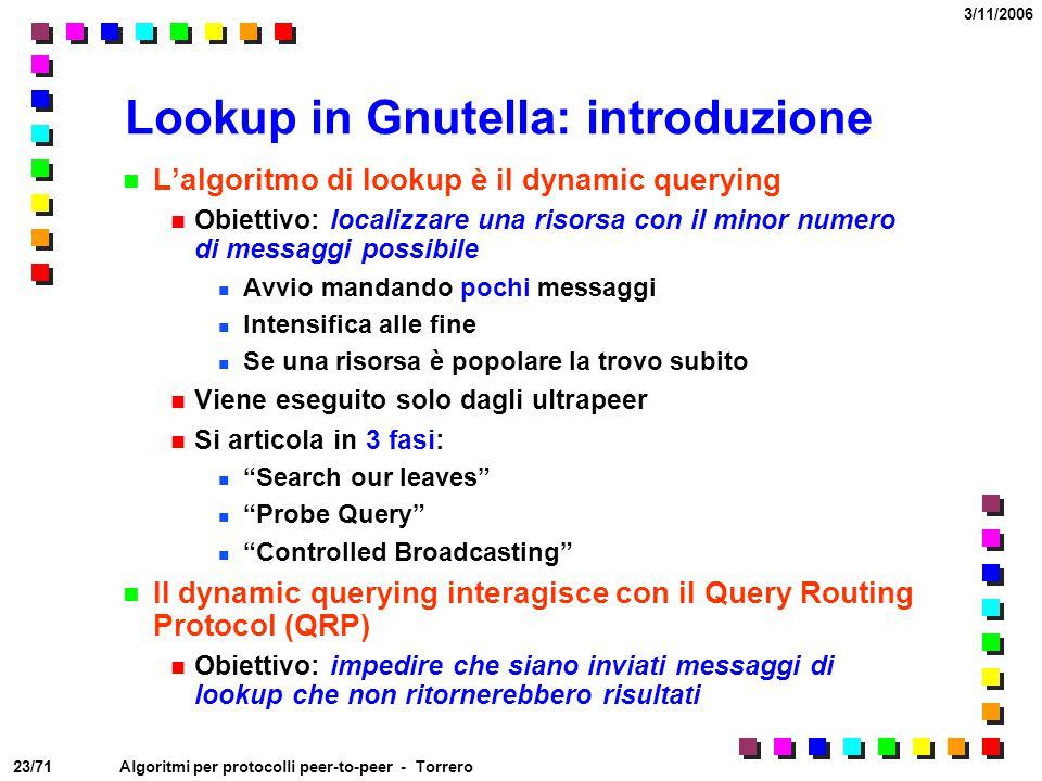 Lookup in Gnutella: introduzione