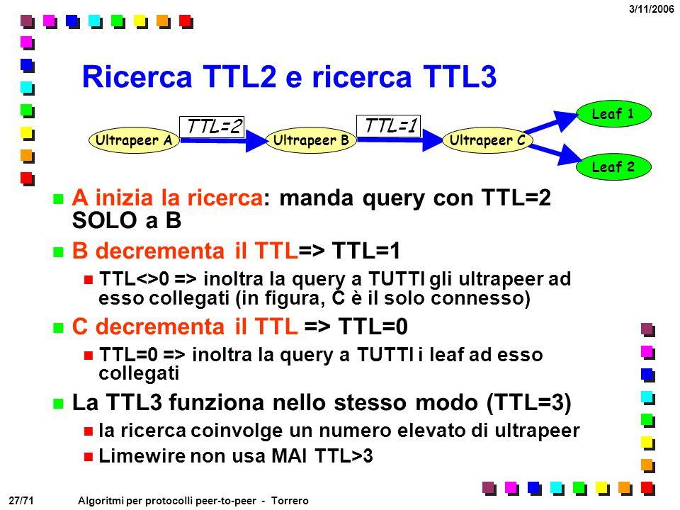 Ricerca TTL2 e ricerca TTL3
