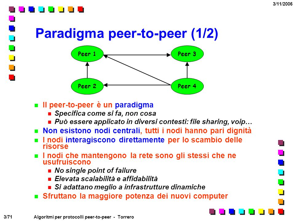 Paradigma peer-to-peer (1/2)
