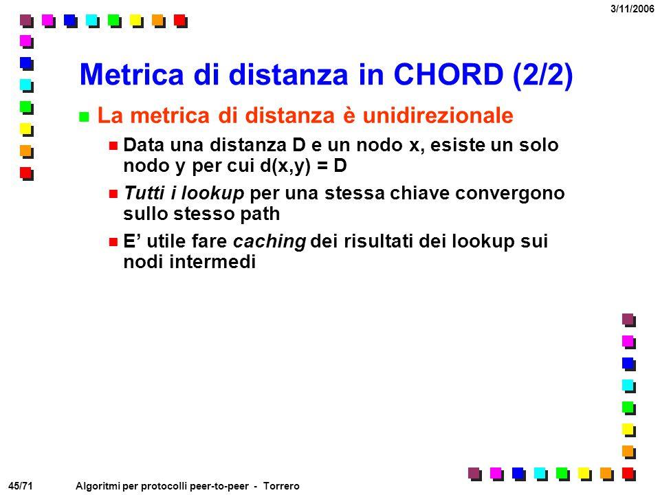Metrica di distanza in CHORD (2/2)