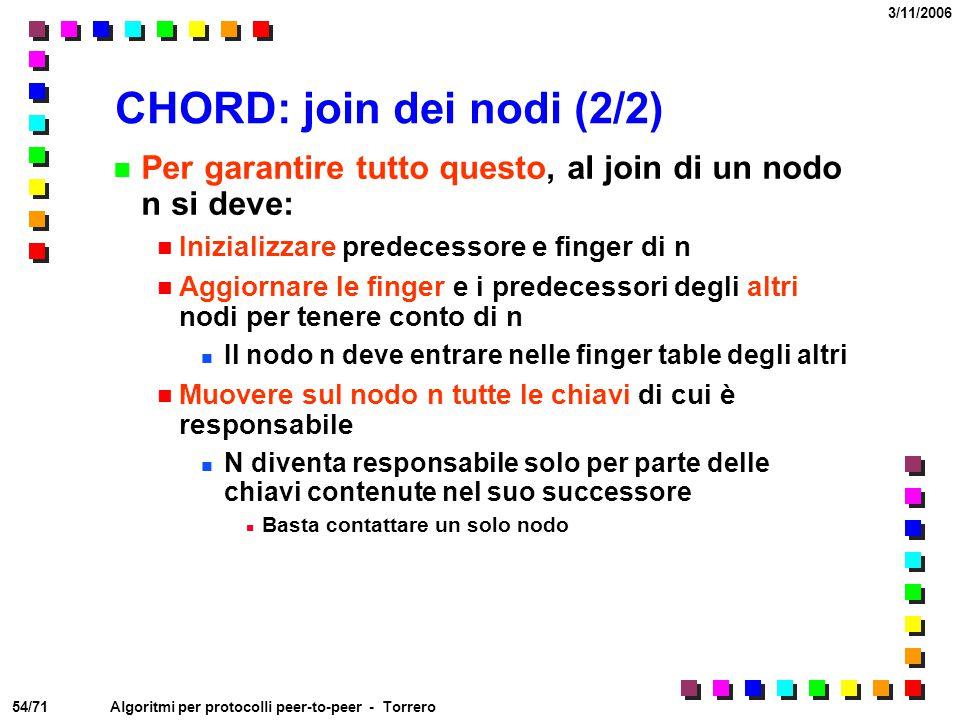CHORD: join dei nodi (2/2)