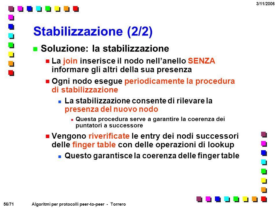 Stabilizzazione (2/2) Soluzione: la stabilizzazione