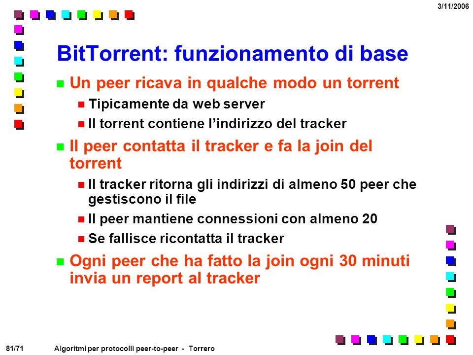 BitTorrent: funzionamento di base