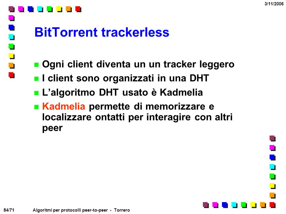 BitTorrent trackerless