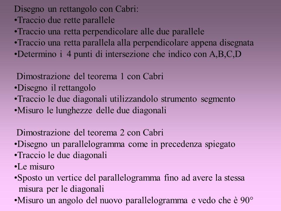 Disegno un rettangolo con Cabri: