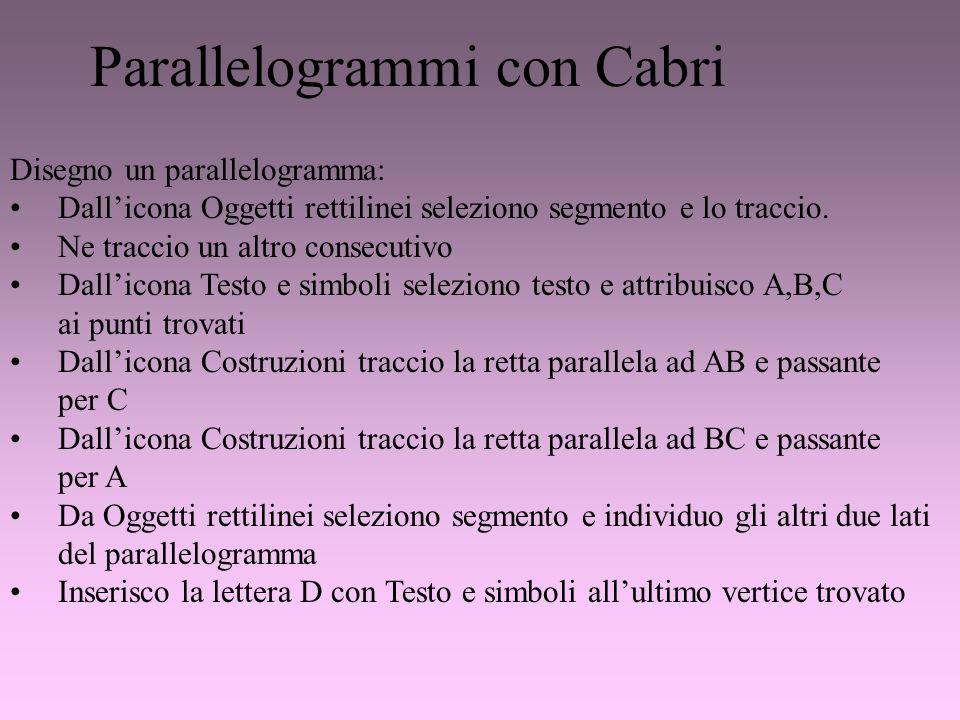 Parallelogrammi con Cabri