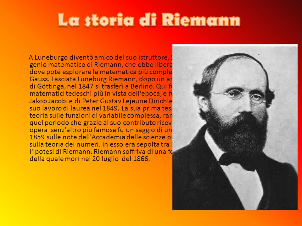 La storia di Riemann