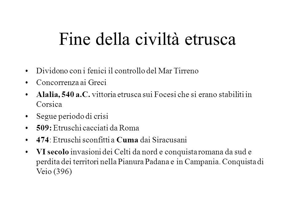 Fine della civiltà etrusca