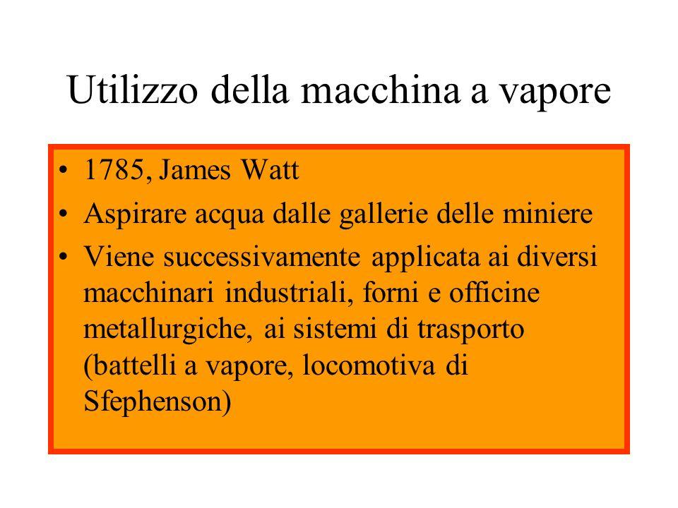 Utilizzo della macchina a vapore