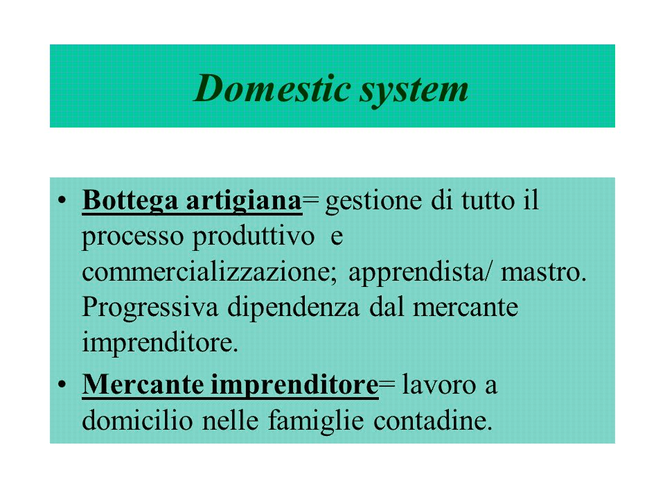 Domestic system