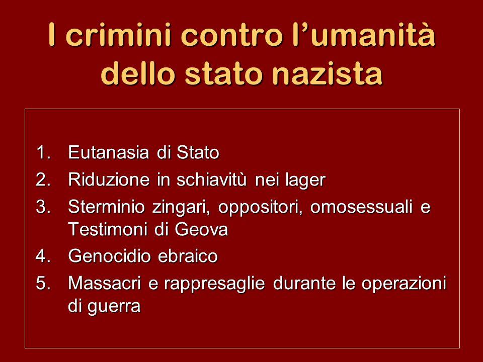I crimini contro l'umanità dello stato nazista