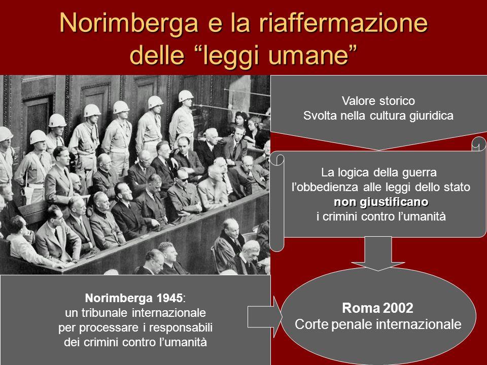 Norimberga e la riaffermazione delle leggi umane