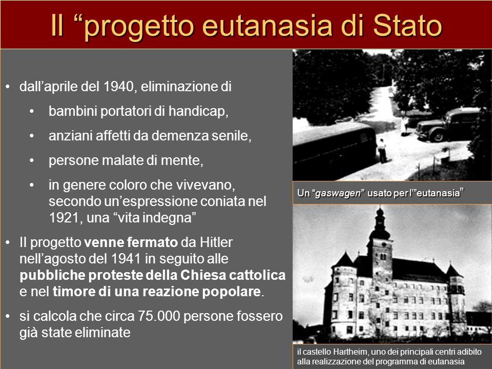 Il progetto eutanasia di Stato