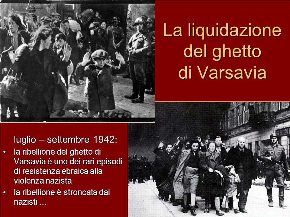 La liquidazione del ghetto di Varsavia