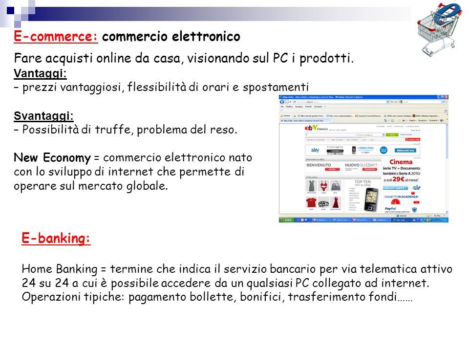 E-commerce: commercio elettronico