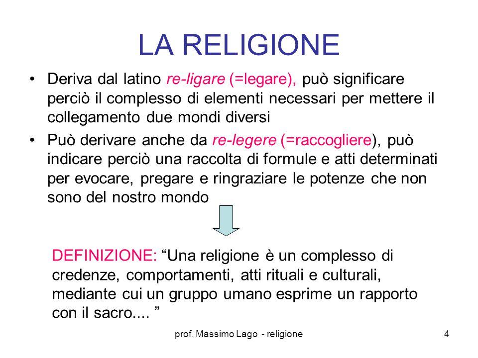 prof. Massimo Lago - religione