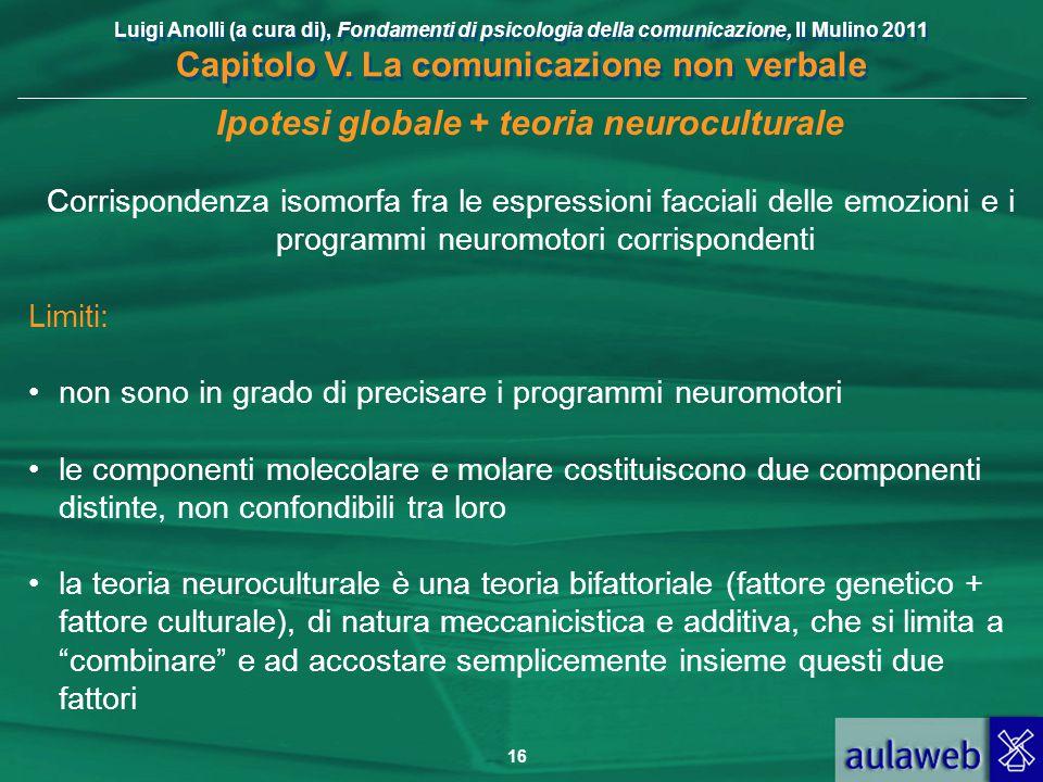 Ipotesi globale + teoria neuroculturale