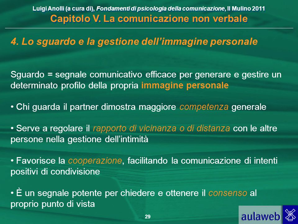 4. Lo sguardo e la gestione dell'immagine personale